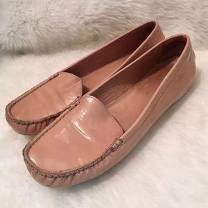 Stuart weitzman beige loafer patent leather 7.5